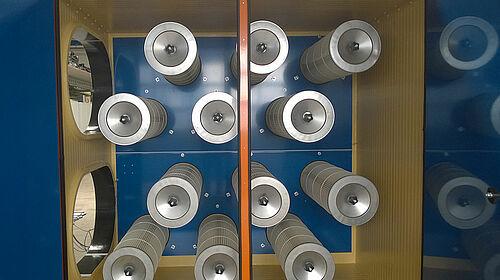 Blick in die Filterkammer
