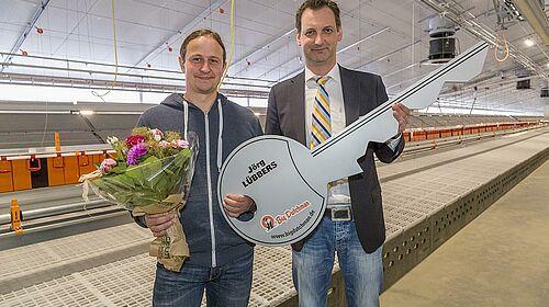Big Dutchman-Gratulation zum Geflügelstall