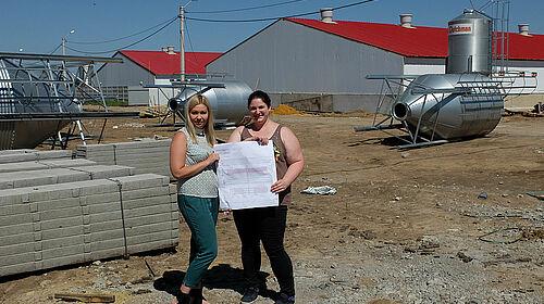 Baustellenbesichtigung mit einer russischen Kollegin