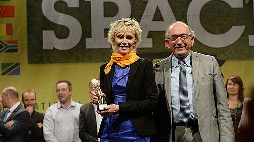 Marianne Seveno-Peeters mit Innovationspreis für den Bereich Schweinehaltung
