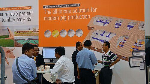 Plakat: BigFarmNet-Technologie für die Schweinehaltung