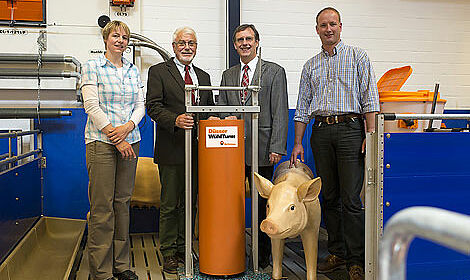Schweinehaltung: Düsser Wühlturm für mehr Tierwohl