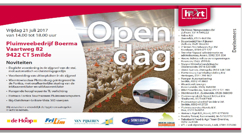Uitnodiging Boerma - Flyer Einladung zum Tag der offenen Tür