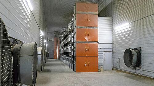 OptiPlate mit Ventilatoren rechts und links an den Wänden