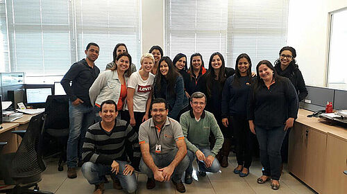 Gruppenphoto mit brasilianischen Kollegen