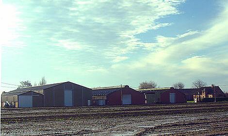 Der landwirtschaftliche Betrieb von Familie Vanbelle mit dem neuen Geflügelstall