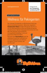 Wellness für Pekingenten